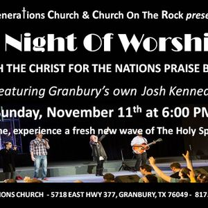 NIGHT OF WORSHIP HIGHLIGHTS with Shake Anderson & Gen Praise and Josh Kennedy & a CFNI Praise Band