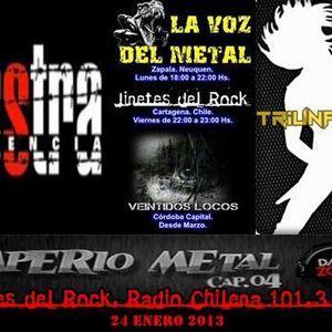 "Programa ""JINETES DEL ROCK"" RADIO CHILENA 101.3 FM, www.canal2.cl // 24 enero 2013"