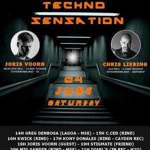 Techno Sensation  DJ C.ced 04-06-2016 128 bpm 100% Techno New Style