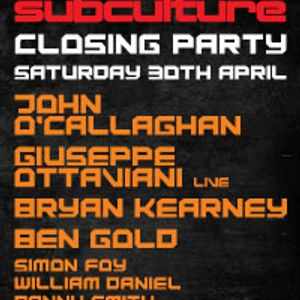 Bryan Kearney Live at Inside out closing party 30-04-11