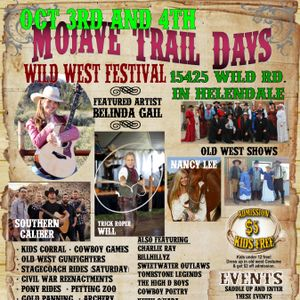 Mojave Trail Days - Wild West Festival Oct 3rd and 4th -Talk with Charlie Ray
