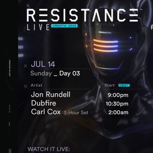 Carl Cox - Live @ Ultra Europe, Resistance (Spilt, Croatia) - 14-Jul-2019