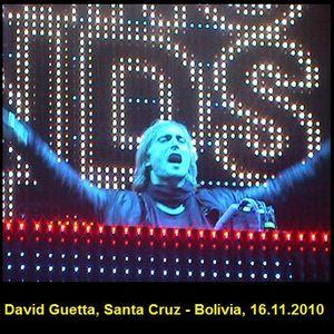 """DAVID GUETTA, In Concert """"Green Sound, Santa Cruz - Bolivia (16.11.2010)"""""""