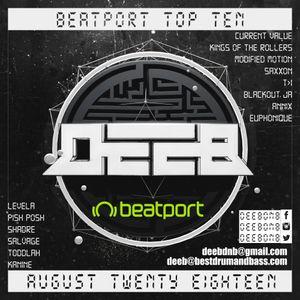 Beatport Top Ten Promotional Mix By @deebdnb (August 2018) #beatport