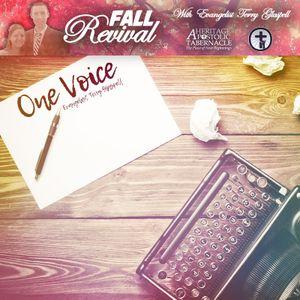 11-6-16 Evangelist Terry Glaspell - One Voice