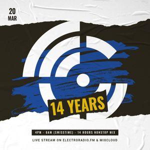14 years electroradio.fm - live stream (20.03.2021)