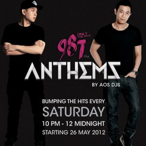 DJ Andrew T 3rd Set of 987 Anthems with AOS DJs 16 June 2012