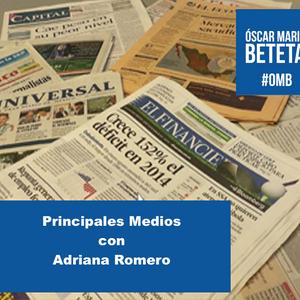 Los Principales Medios con Adriana Romero. Martes 21 de abril de 2015