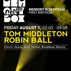 Tom Middleton @ Memory Box - Roland 909 History set