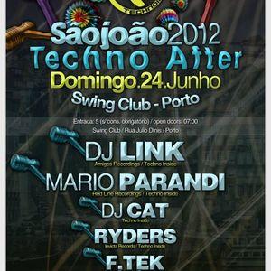 DJ Link - Live @ São João 2012, Techno After, Swing Club, Porto, Portugal (24.06.2012)