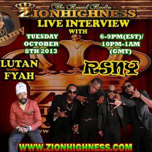 LUTAN FYAH INTERVIEW WITH DJ JAMMY ON ZIONHIGHNESS RADIO 10-08-13