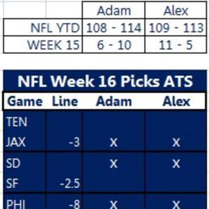 NFL Week 16 Picks and Bowl Giveaway Challenge