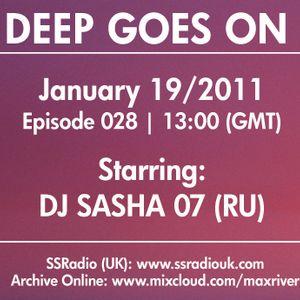Deep Goes On 028  with DJ Sasha 07