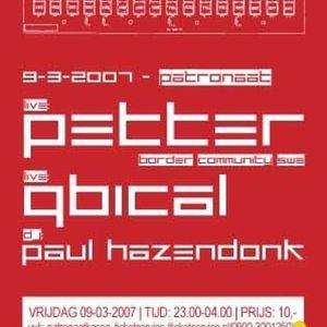 Live @ Manual Label Night - Patronaat (09-03-2007 )