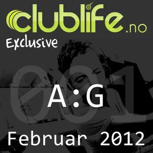 Clublife.no Exclusive #001 - A:G, Februar 2012