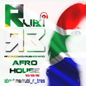 RUBI LIVE ON MIXLR | AFRO HOUSE 10-15-16