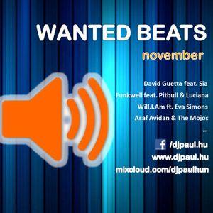 Wanted Beats November Mixed by Dj Paul