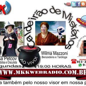 Programa Caldeirão de Mistérios 29.06.2015 - Wilma Mazzoni e Marisa Petcov