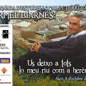 III JORNADA D'ESTUDIS LOCALS I TERRITORIALS CARMEL BIARNÉS