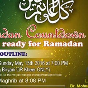 Welcome Ramadan - Talk - Shaykh Shinawi - May-15-2016