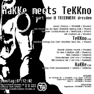 NDK & BreXX @ Hakke Meets Tekkno Part One - Triebwerk Dresden - 07.12.2002