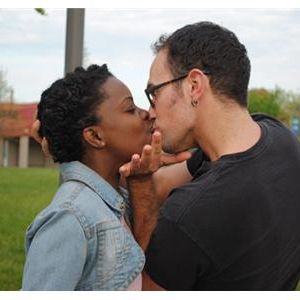 Interracial making out