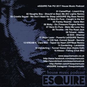 Esquire feb pt2 2017 house music podcast by esquire music for House music podcast