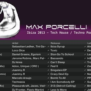 Ibiza 2013 Tech House / Techno Podcast Mixed By Max Porcelli - 989 Records #Tech House #Techno