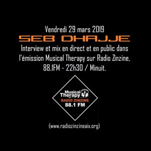 SEB DHAJJE en direct dans l'émission Musical Therapy - Radio Zinzine 88.1FM - 29/03/2019