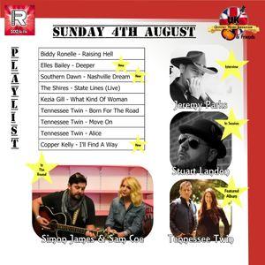 The UK Country Music Showcase & Friends - Simon James, Sam Coe, Jeremy Parks & Stuart Landon 4th Aug