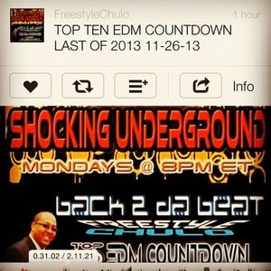 TOP TEN EDM COUNTDOWN LAST OF 2013 11-26-13