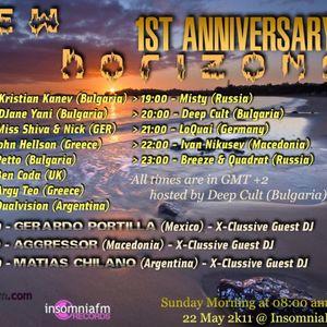 Kristian Kanev - New horizons 1st Anniversary [22 May 2011] on InsomniaFm