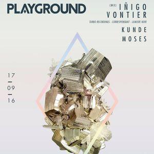 Playground XVIII ::: Iñigo Vontier ::: 17-09-2016