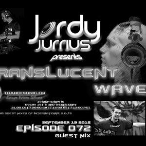 Jordy Jurrius - Translucent Waves Episode 072 (September 19 2012) on TRANCESONIC.FM