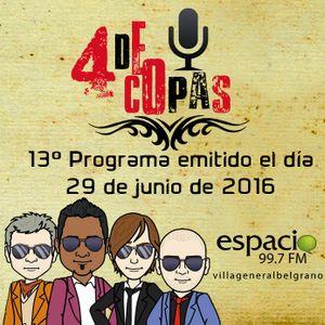 13º programa de 4 de Copas (Emisión del 29 de junio de 2016)