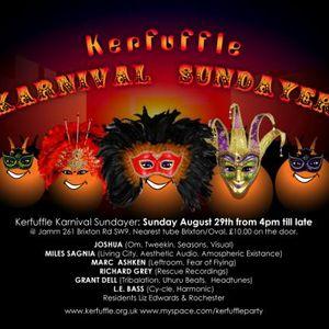 Miles Sagnia DJ mix for Jamm/Kerfuffle Aug 2010