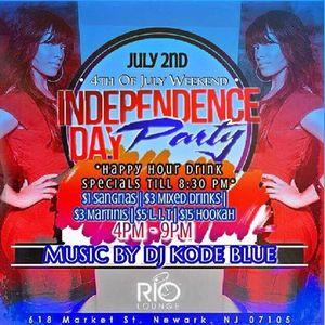 @DJT4Real Set @ Rio Lounge w/ @DJKodeBlue II (7-2-2016) @UrbanOneRadio
