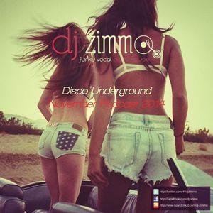 Disco Underground (DJ Zimmo Mix Nov 2014)