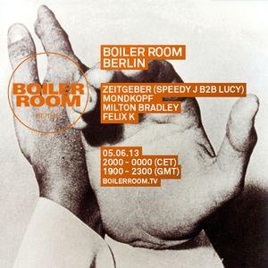 2013-06-05 - Zeitgeber (Speedy J B2B Lucy) @ Boiler Room Berlin Mix