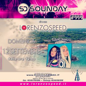 LORENZOSPEED* presents THE SOUNDAY Radio Show Domenica 12/9/2021 with special guests DADiSCO audiohh