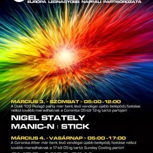 Nigel Stately, ManicN, Stick - Coronita Live (2012 03 03)