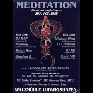 Peshay + MC GQ + MC Conrad @ Meditation 2, Walzmuehle, Ludwigshafen (21.10.1995)