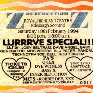 Joey Beltram @ Rezerection: Lurrrve Special (Feb 1994)