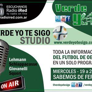 Verde yo te Sigo. programa del miércoles 23/3 en Radio iRed HD. Nota con Pablo Frontini.