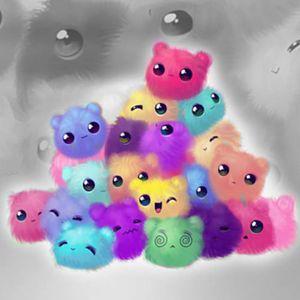 Fluffy Rainbow Puffs