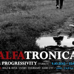ALFATRONICA ON RADIO ALFA; Guest Mix: PROGRESSIVITY; 4.10.2012