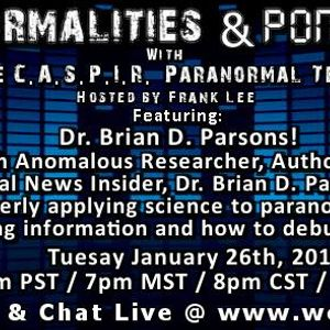 Paranormalities & Ponderings with Frank Lee  20160126