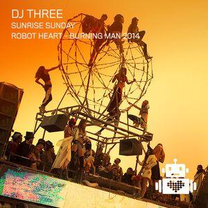 DJ Three - Robot Heart - Burning Man 2014