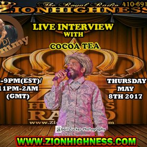 COCOA TEA LIVE INTERVIEW WITH DJ JAMMY ON ZIONHIGHNESS RADIO 060817