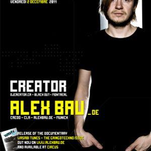 Alex Bau - Live @ Circus Afterhours, Montreal 2-12-2011